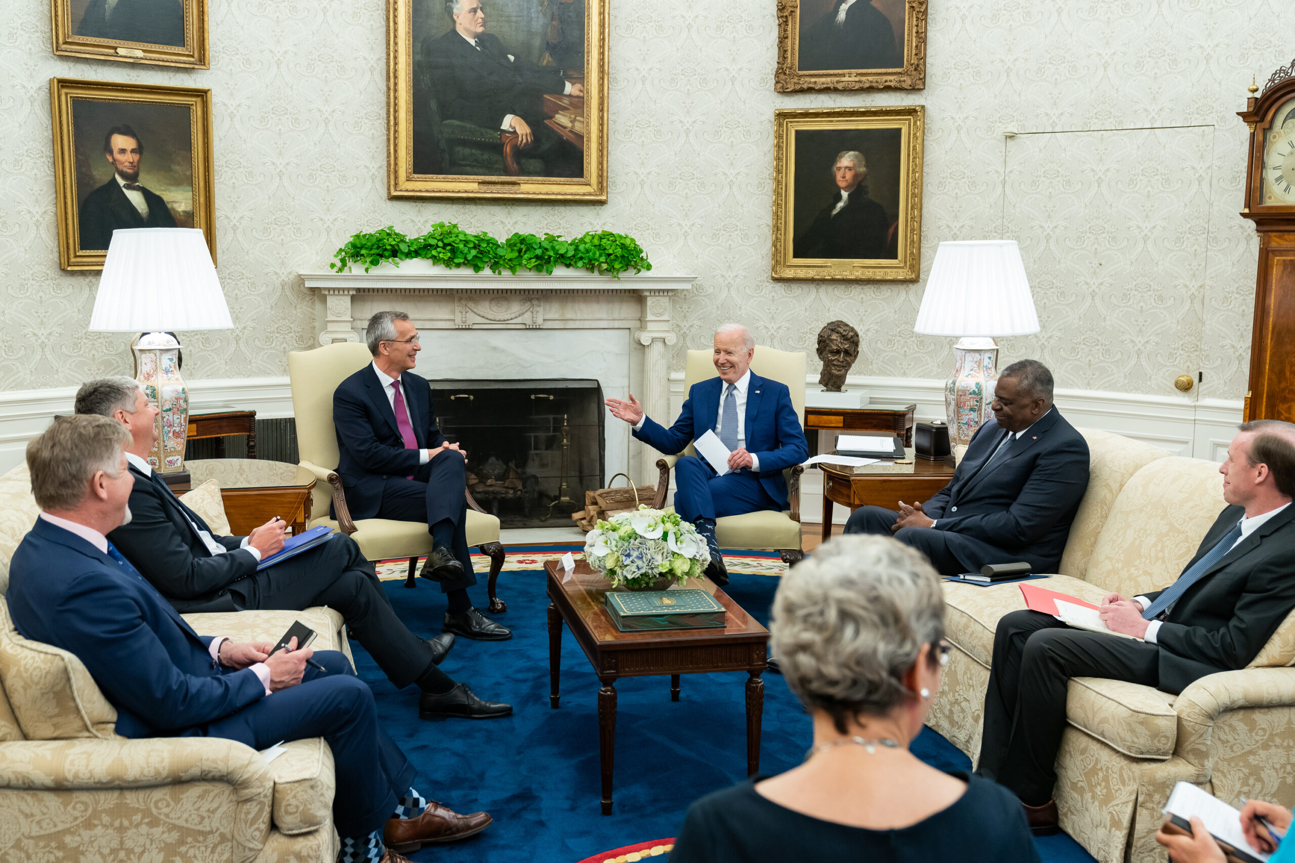 President Joe Biden meets with NATO Secretary General Jens Stoltenberg